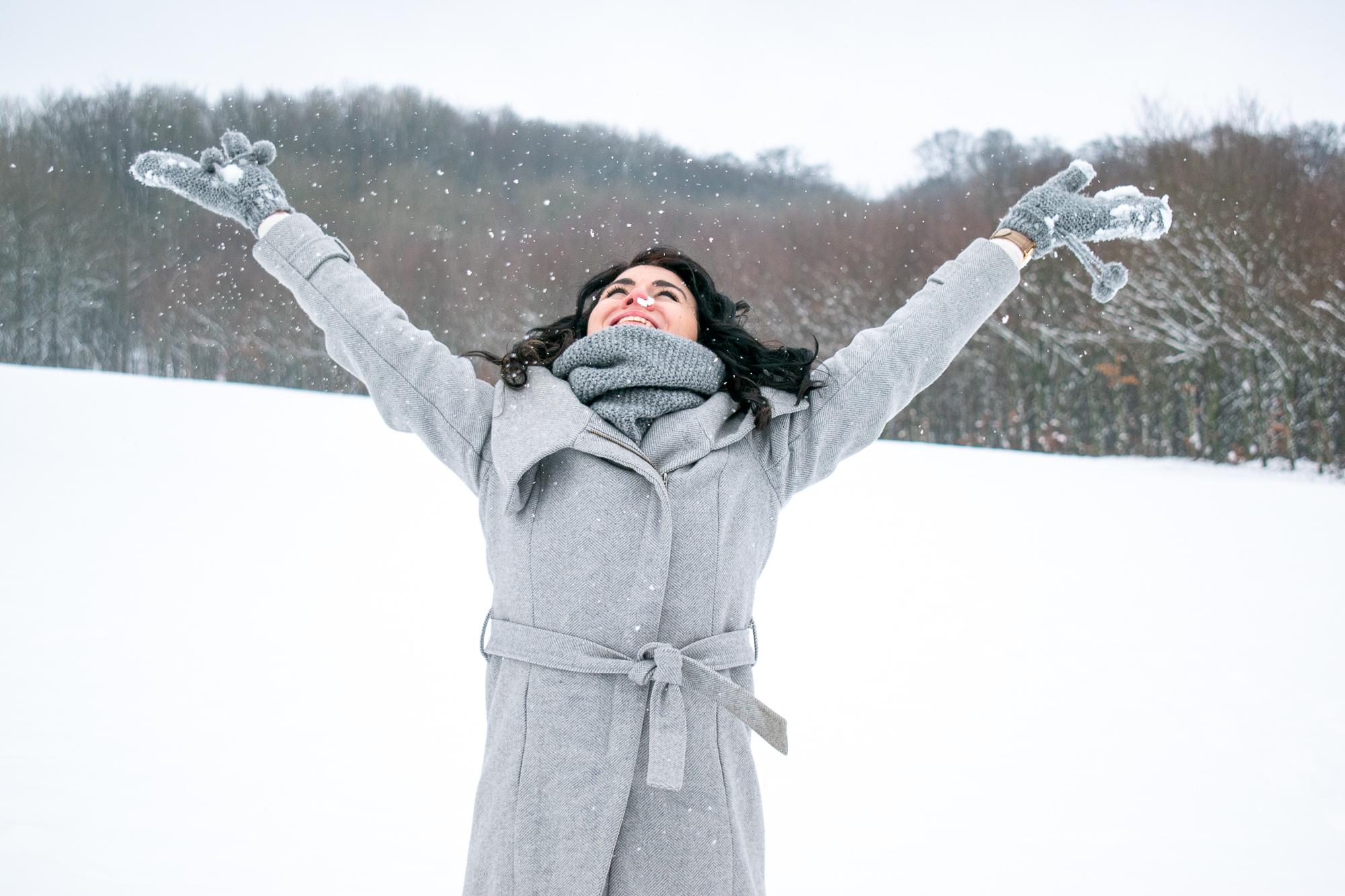 Cyrielle en hiver
